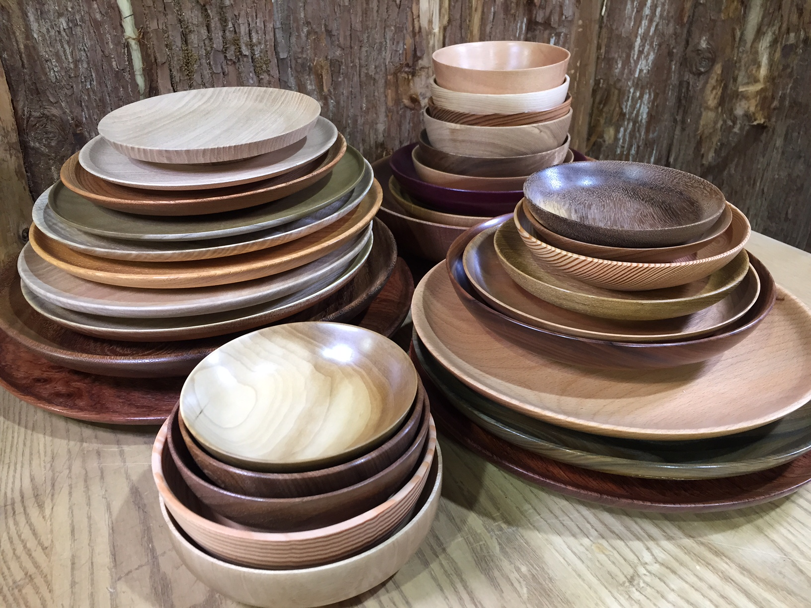 展示用木工作品