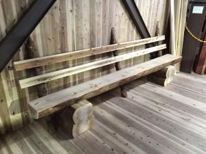 手作り 丸太椅子