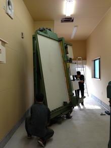 木工機械搬入