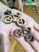自転車 木 キーホルダー かわいい