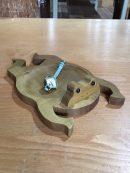 カエル 小物入れ 木製