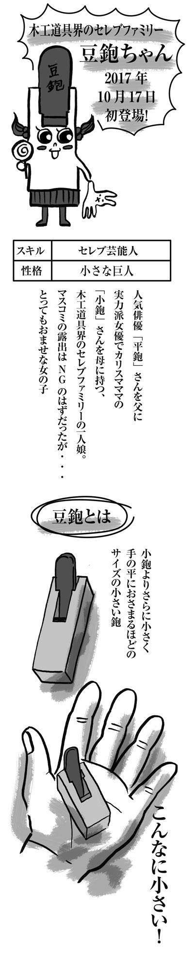 木工道具たち(28)木工道具界のセレブファミリー 豆鉋さん
