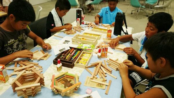 夏休み親子木工教室三重