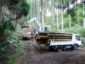 木材の積み込み ウッドロード