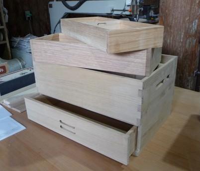 木製メイクボックス作り