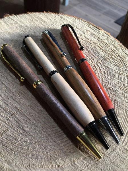 木工教室でペン制作