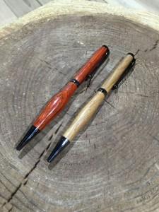 木工旋盤でペン