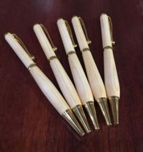 木で作るペン